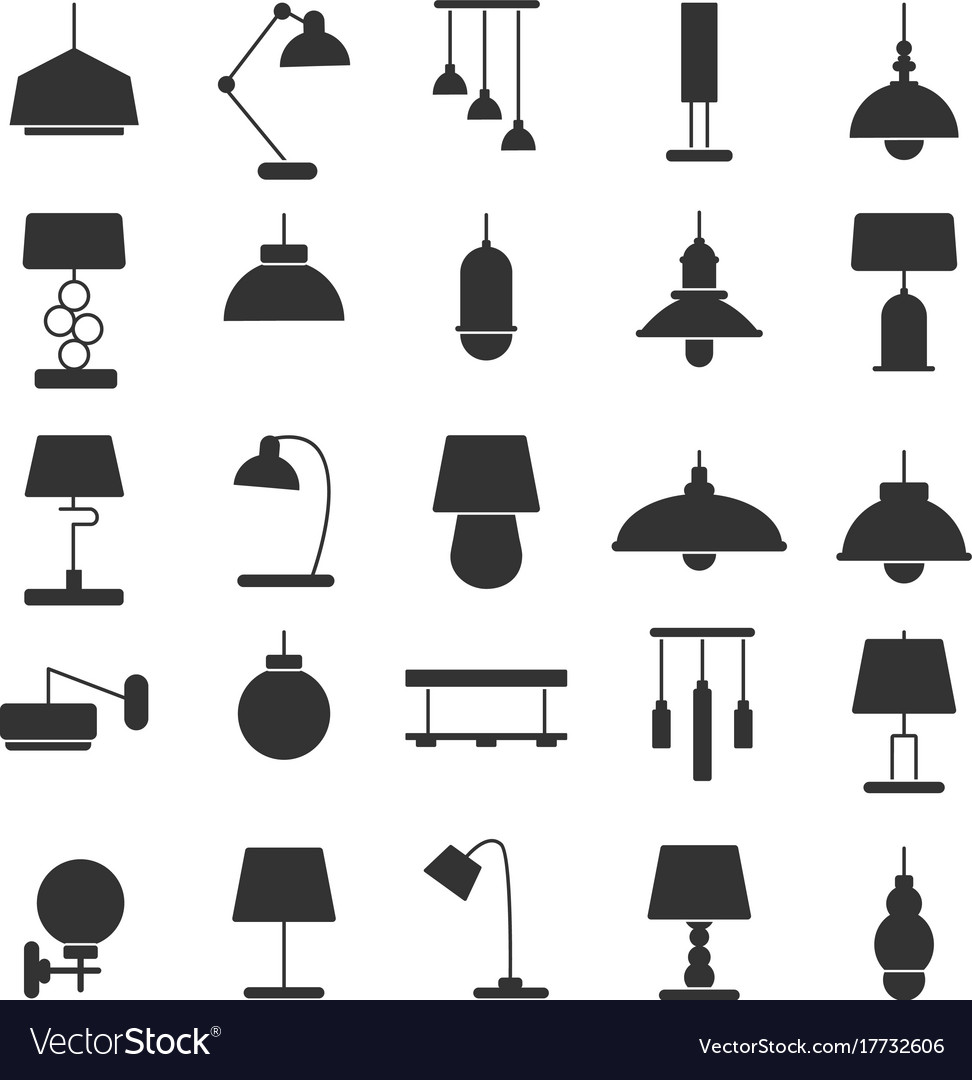 Silhouette of modern interior equipment vector image