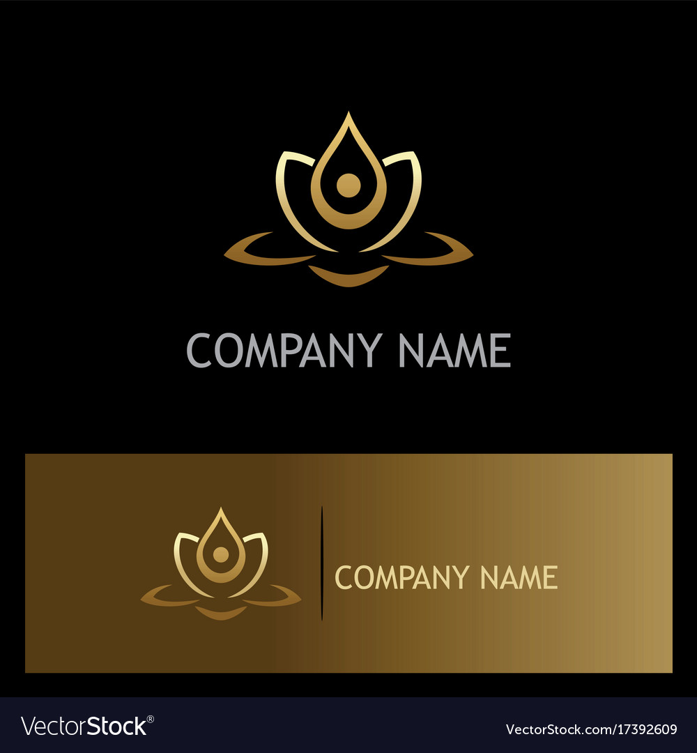 Beauty gold lotus flower spa logo royalty free vector image beauty gold lotus flower spa logo vector image izmirmasajfo Gallery