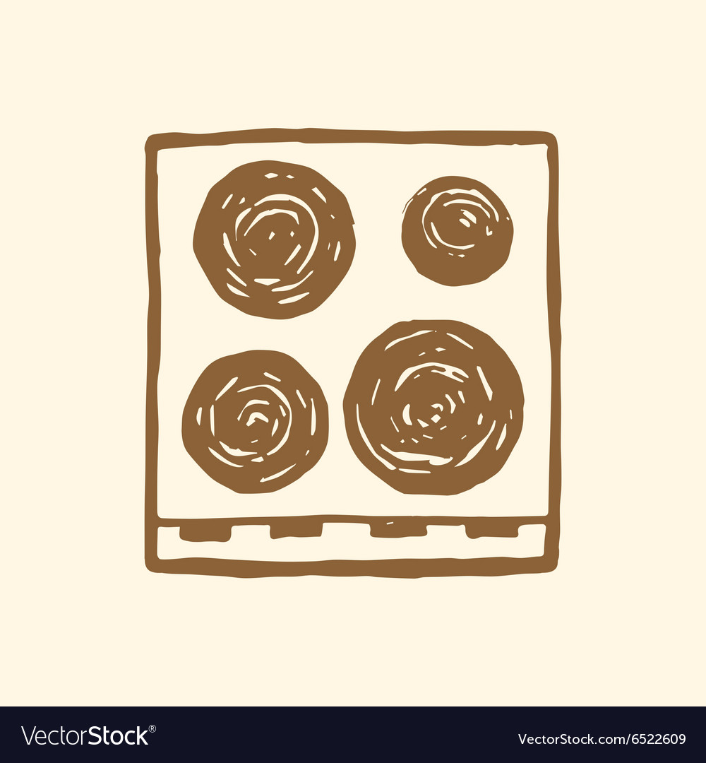 Electric stove top view vector image