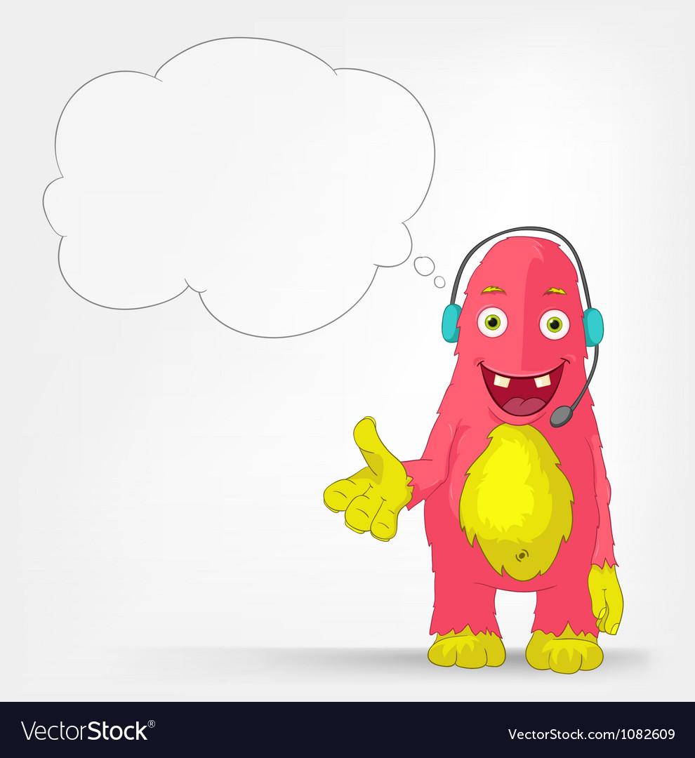 Funny Monster Communication vector image