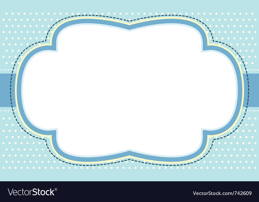 Ornate blue bubble frame vector image