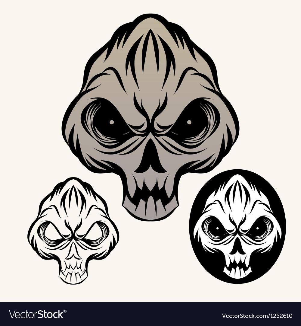 Devil-skull vector image