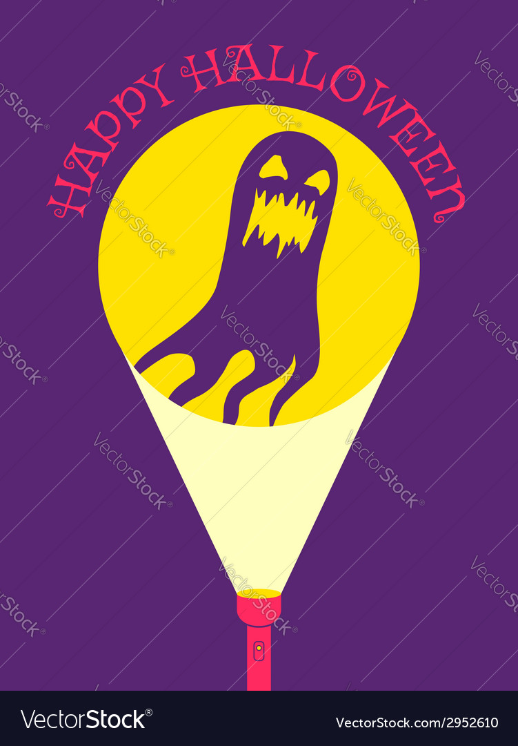 Flashlight ghost vector image