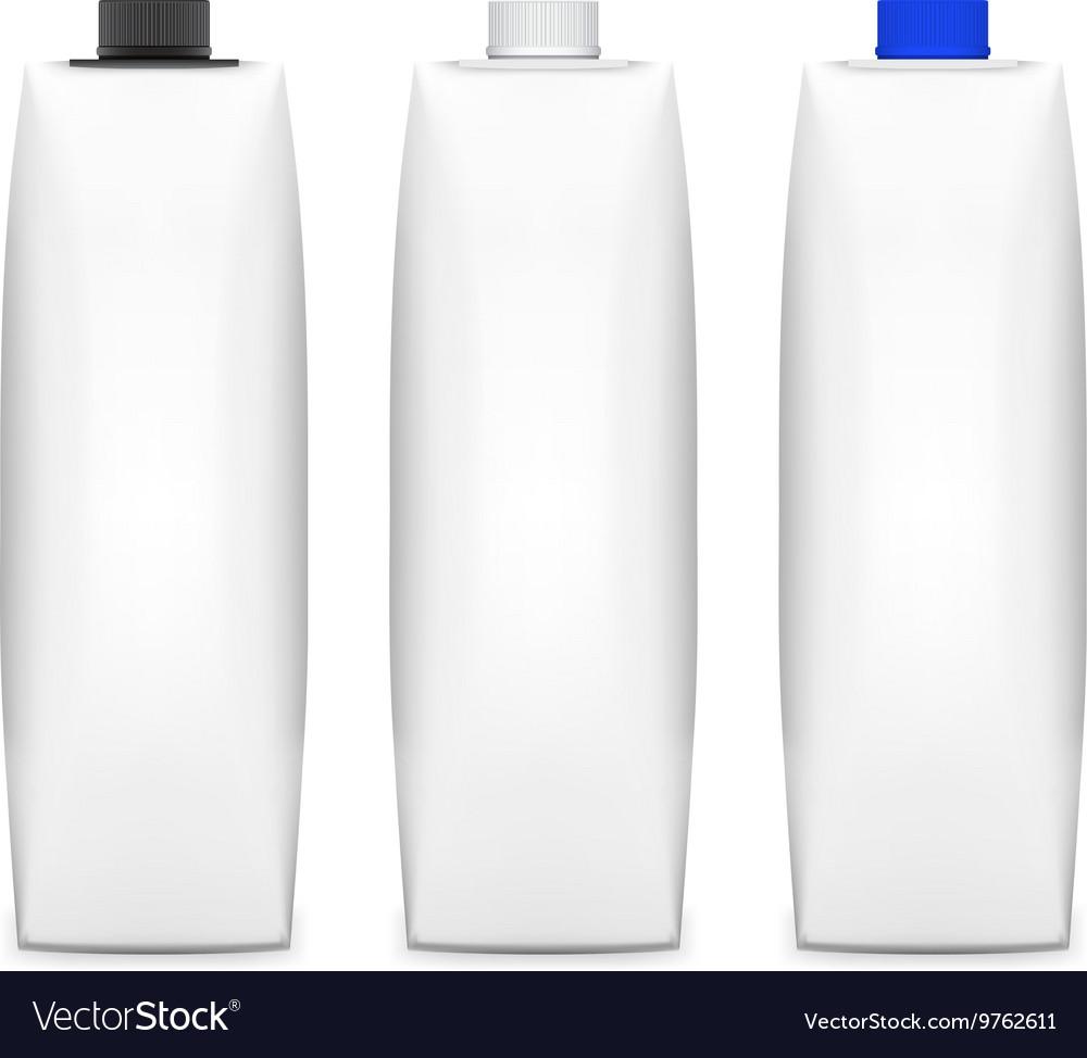 Tetra pack mockup vector image