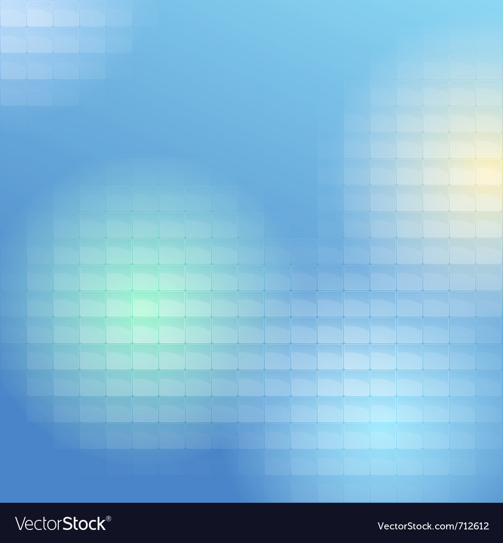 Blue lite tiles background vector image