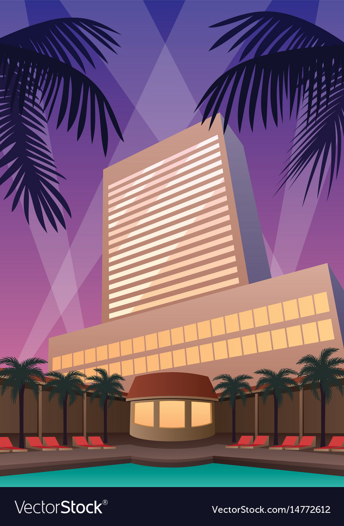 Hotel casino resort vector image