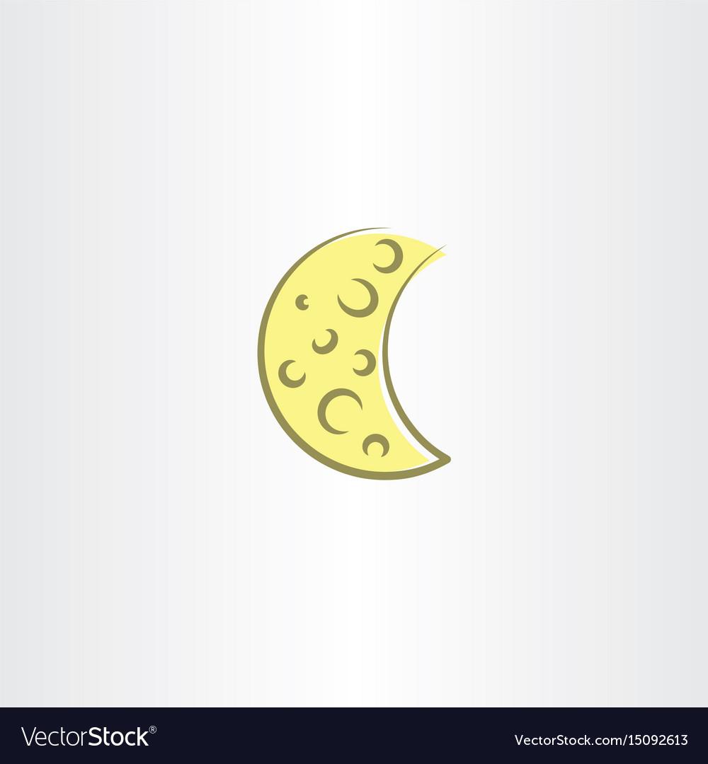 Moon icon symbol element design vector image