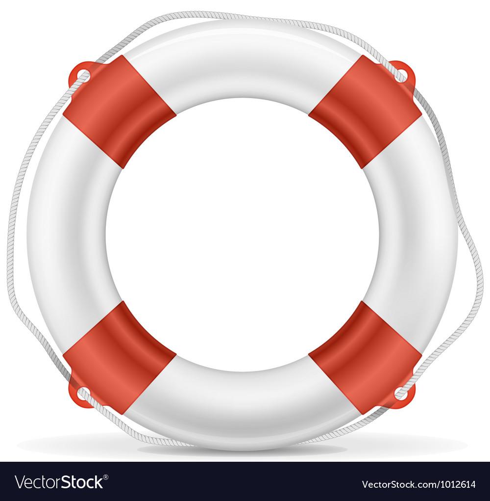 White Lifebuoy vector image