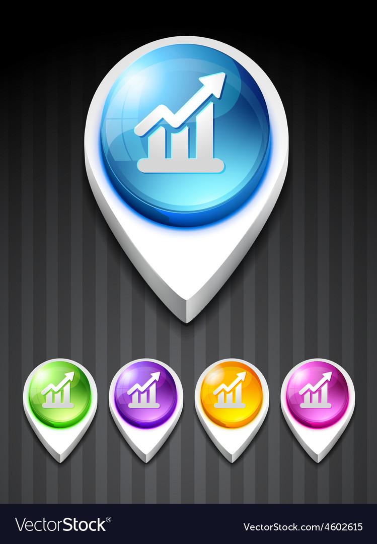 Growth bar vector image