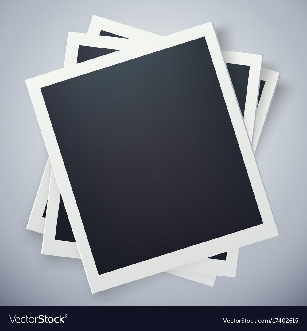 Retro photo frame sweet memories concept Vector Image