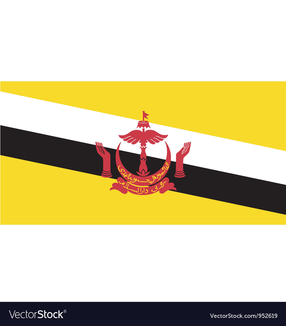 Bruneian flag vector image