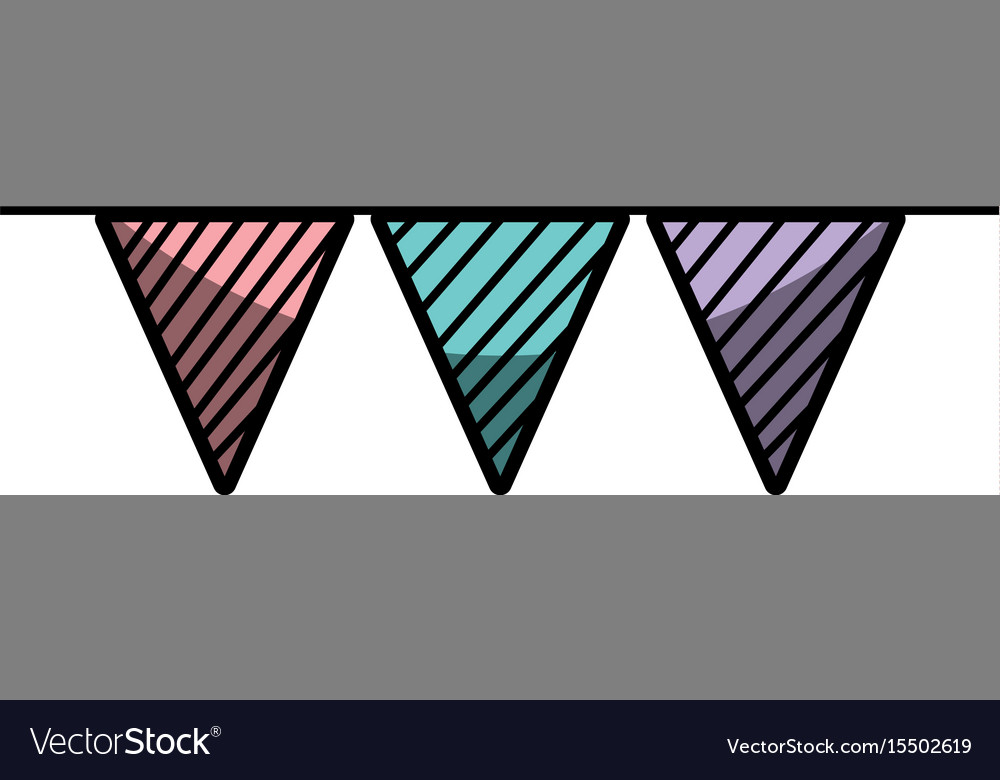 Flag party to decoration design vector image