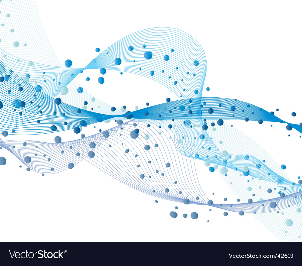 Wave and bubbles vector image