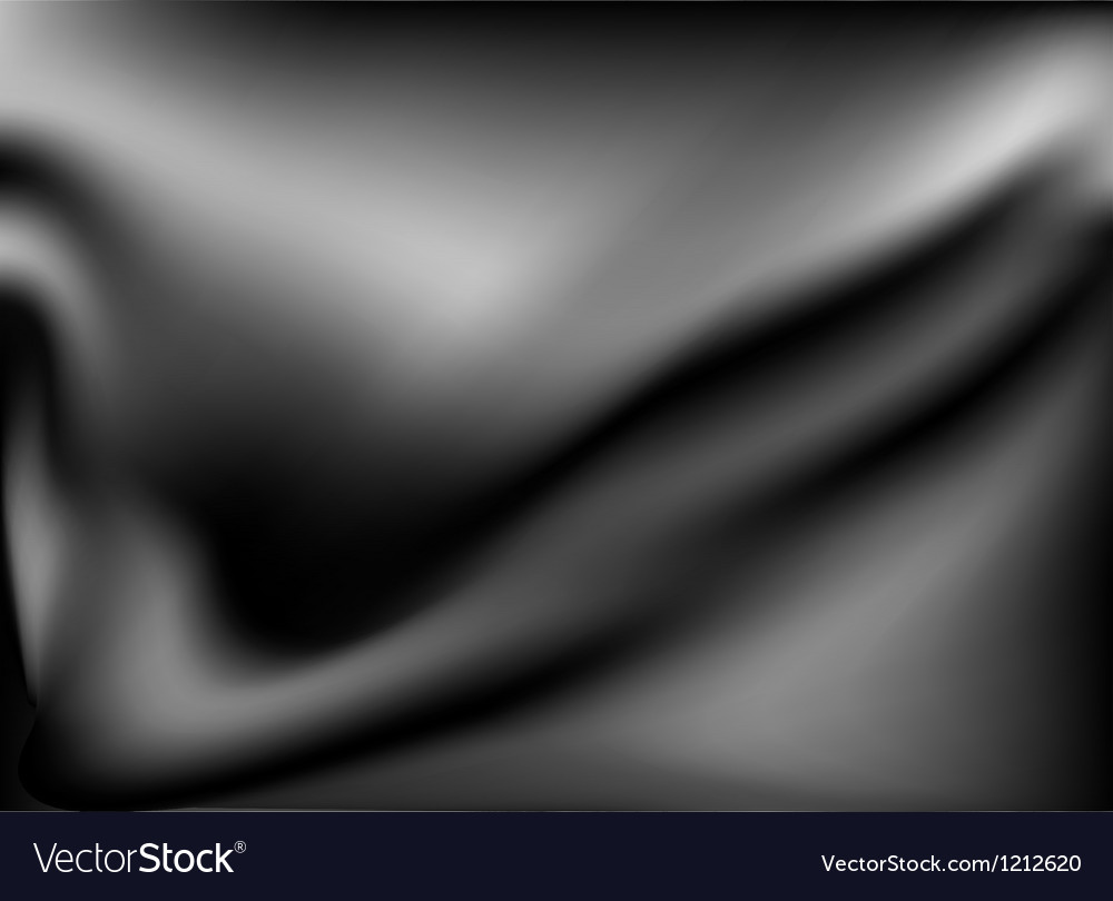 Black abstract satin background Vector Image