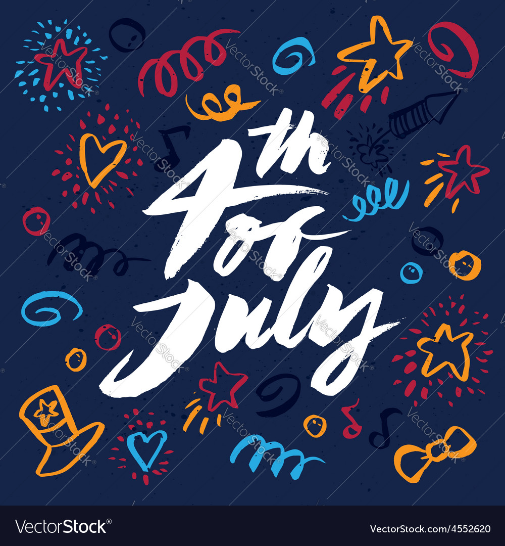 Independence day july 4th vector image