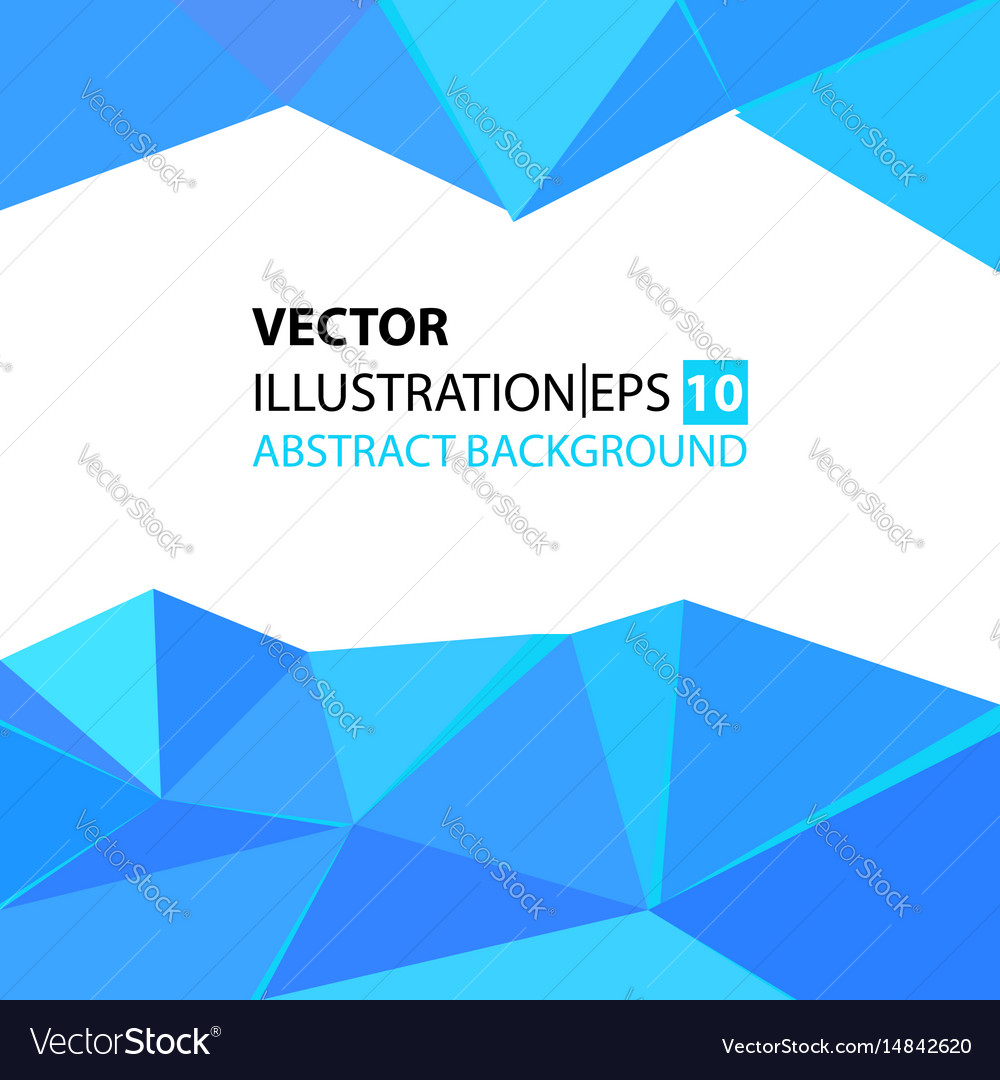 Triangular abstract background blue vector image