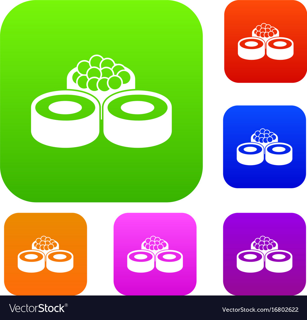 Sushi set collection vector image
