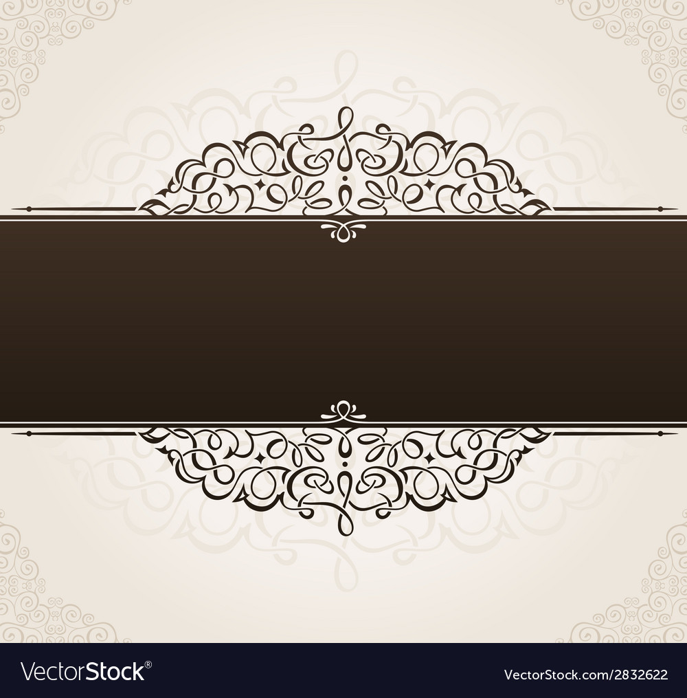 Template for text vintage frame decorated vector image