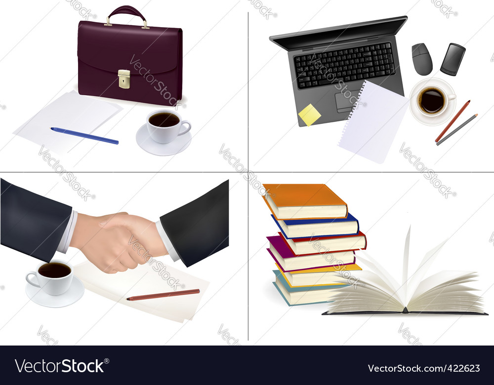 Mega set of office backgrounds vector image