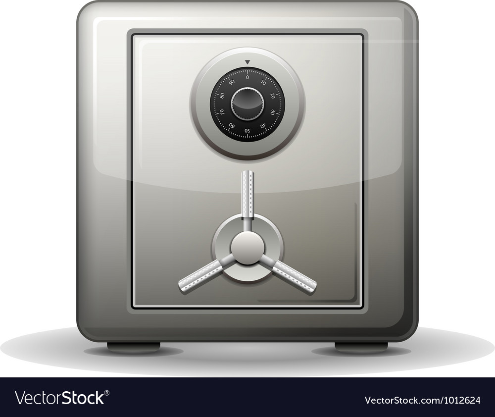 Security safe vector image