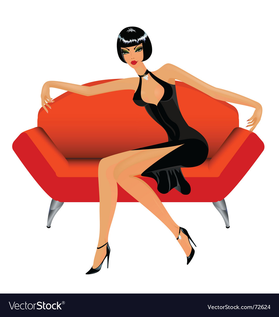 Sexy lady vector image