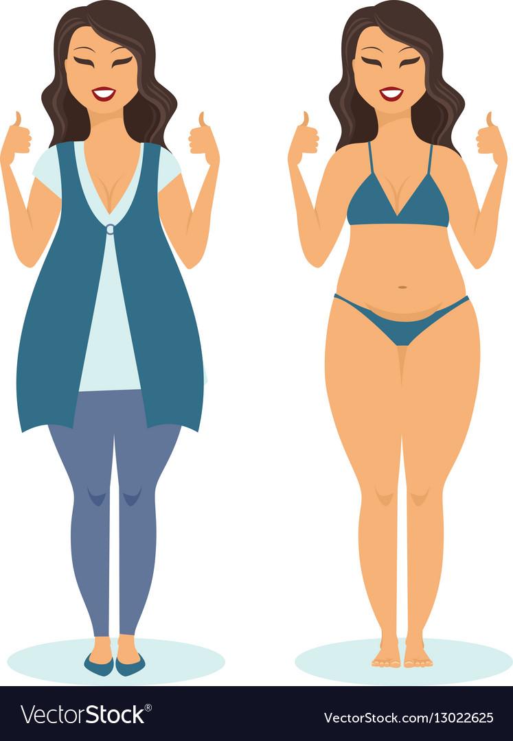 Body positive girl vector image