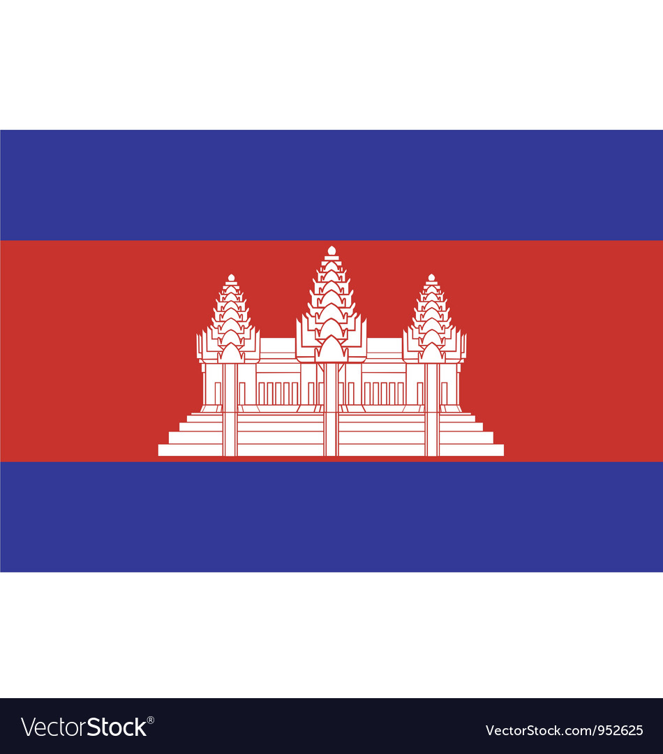Cambodian flag vector image