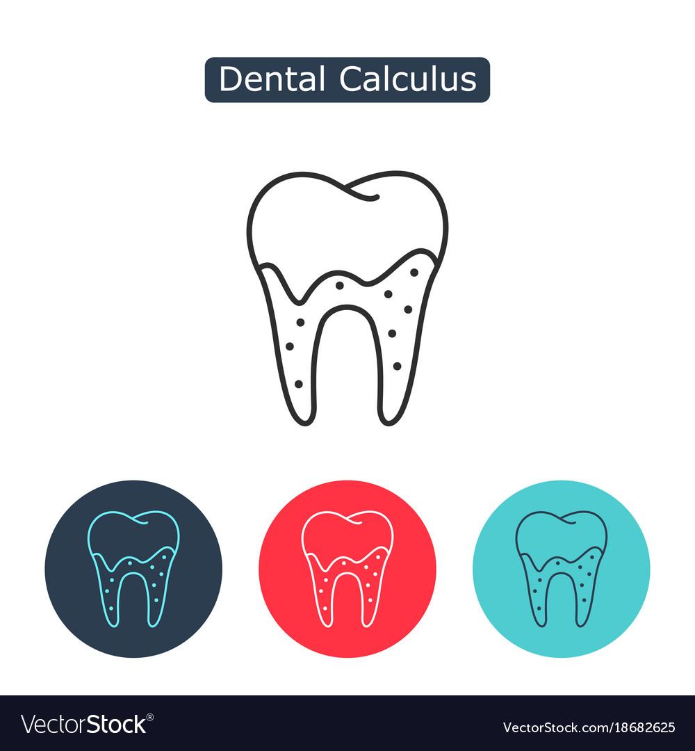 Tartar or calculus teeth icon vector image