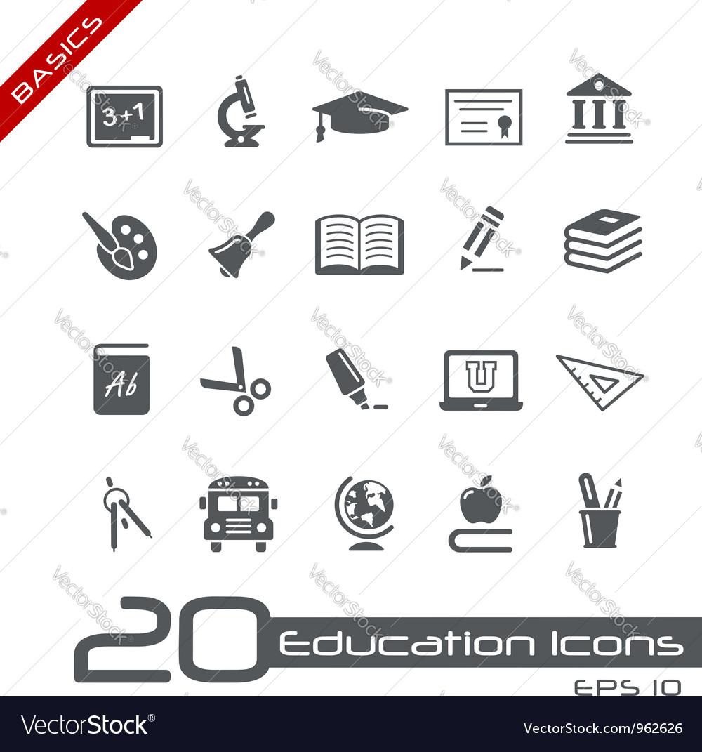 Education Icons Basics vector image