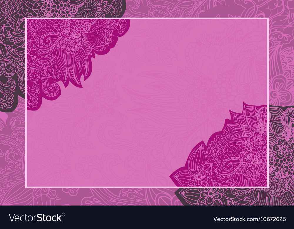 Floral wedding card invitation vector image