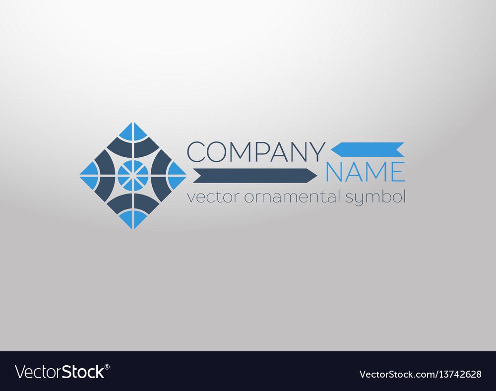 Ornamental symbol vector image