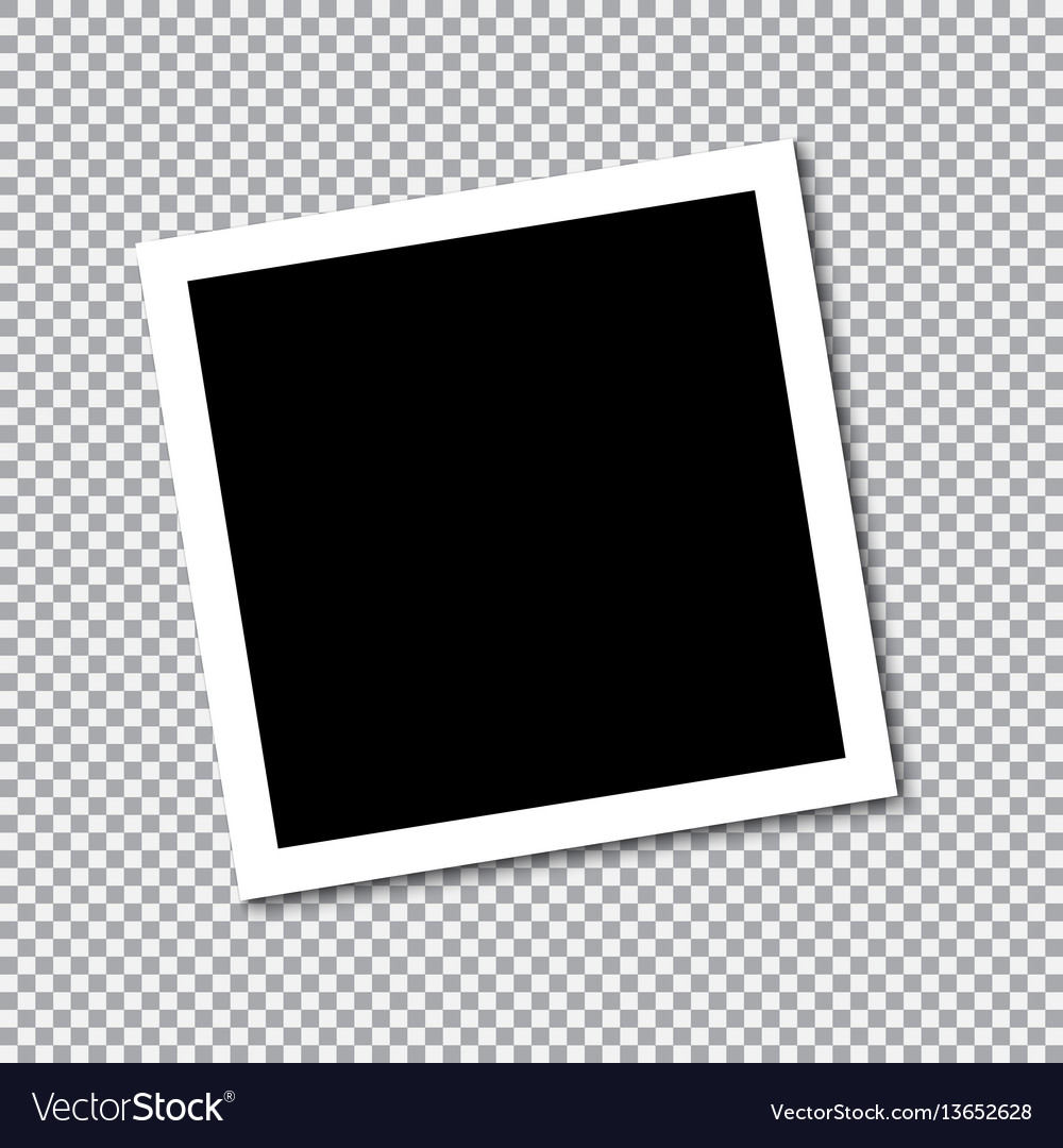 Square frame template with shadows vector image