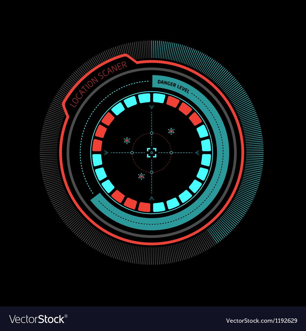 Alarm radar enemy detected vector image