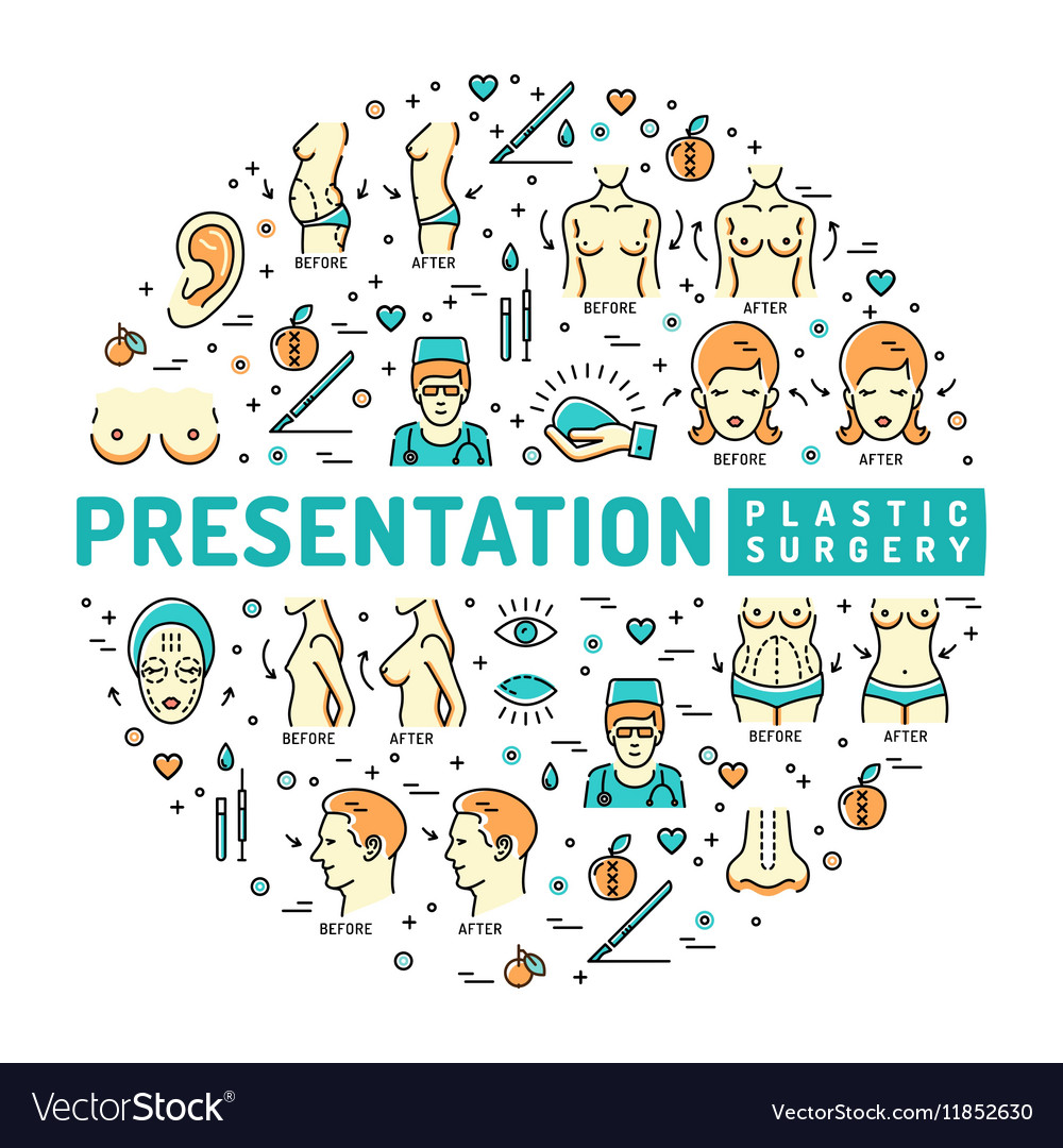 Template medical infographic Presentation Plastic vector image
