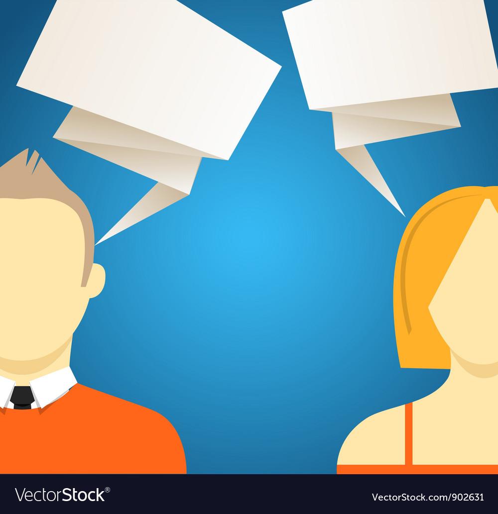 Talking people vector image