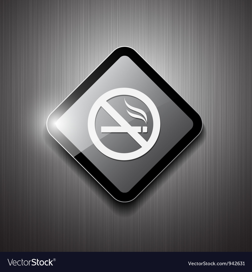 No smoking sign modern design vector image