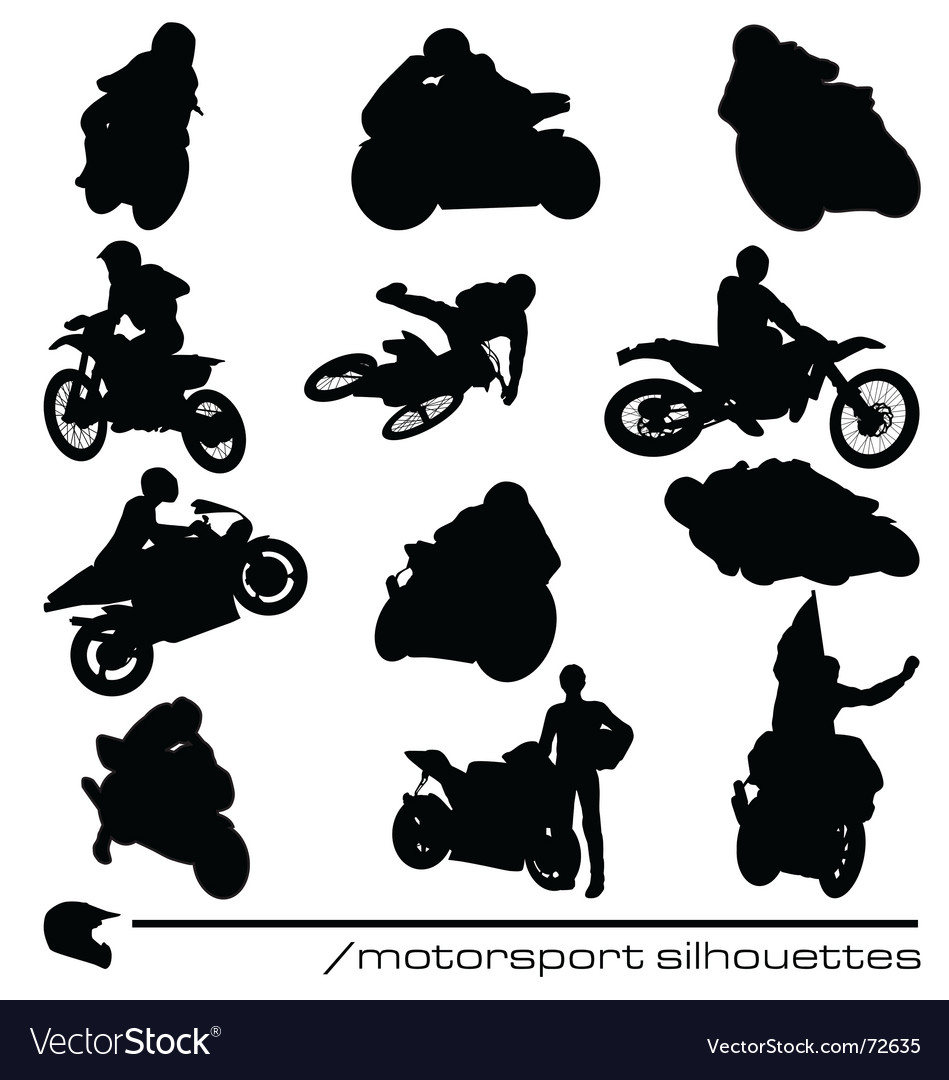 Motorbike silhouettes vector image