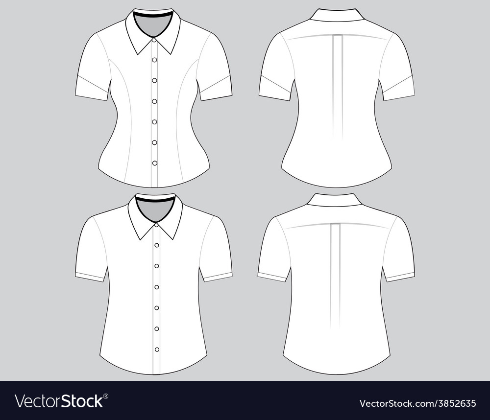 Blank shirt with short sleeves template Royalty Free Vector