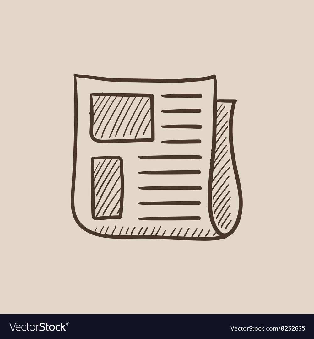 Newspaper sketch icon vector image