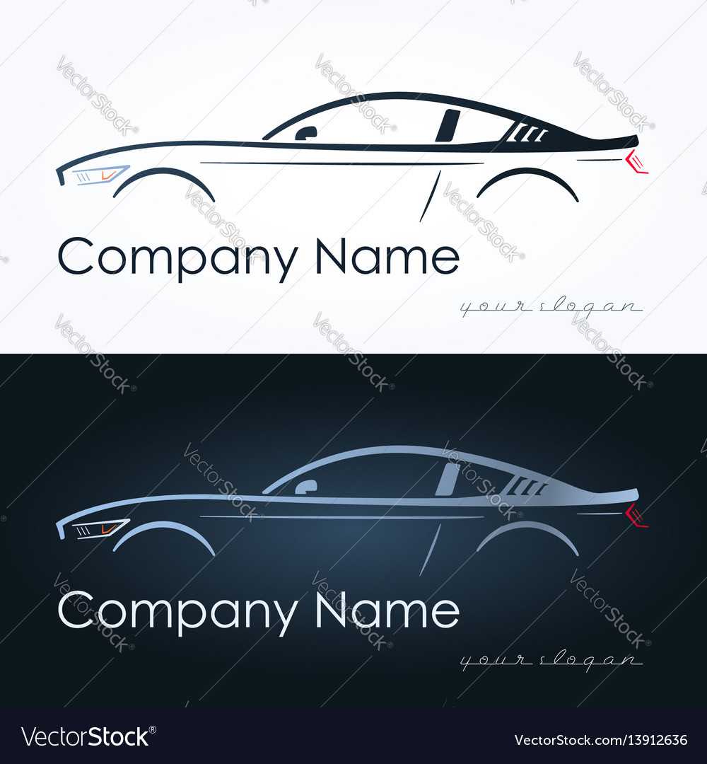 Abstract sport coupe car vector image