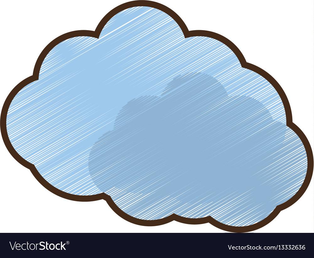 Drawing blue cloud symbol royalty free vector image drawing blue cloud symbol vector image biocorpaavc Gallery
