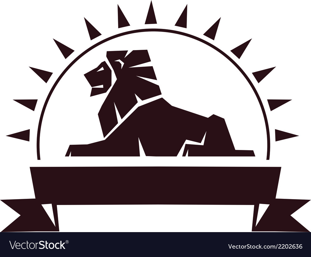 Lion insignia vector image