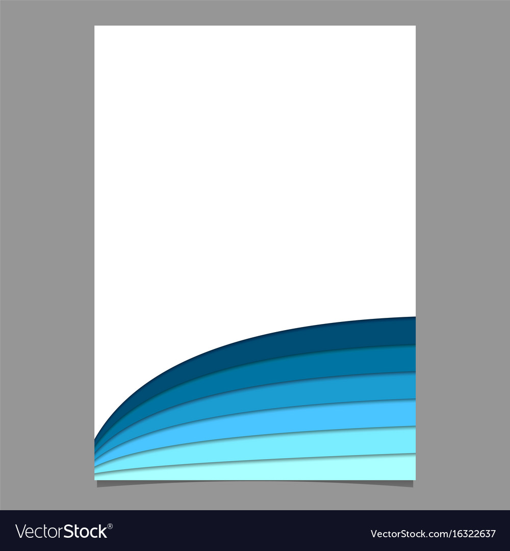 Blank Brochure Template From Curved Stripes In Vector Image  Blank Brochure
