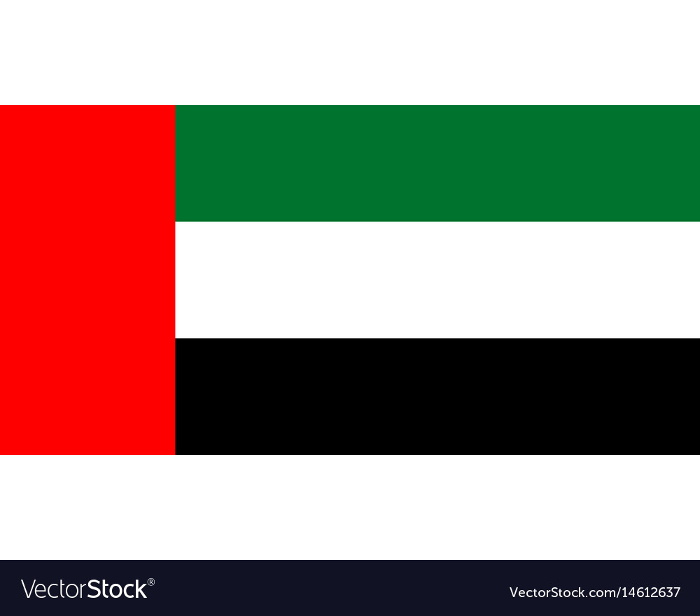 Colored flag of the united arab emirates vector image