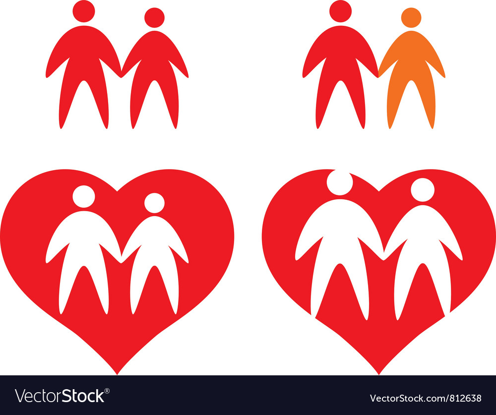 Icons of couple Vector Image