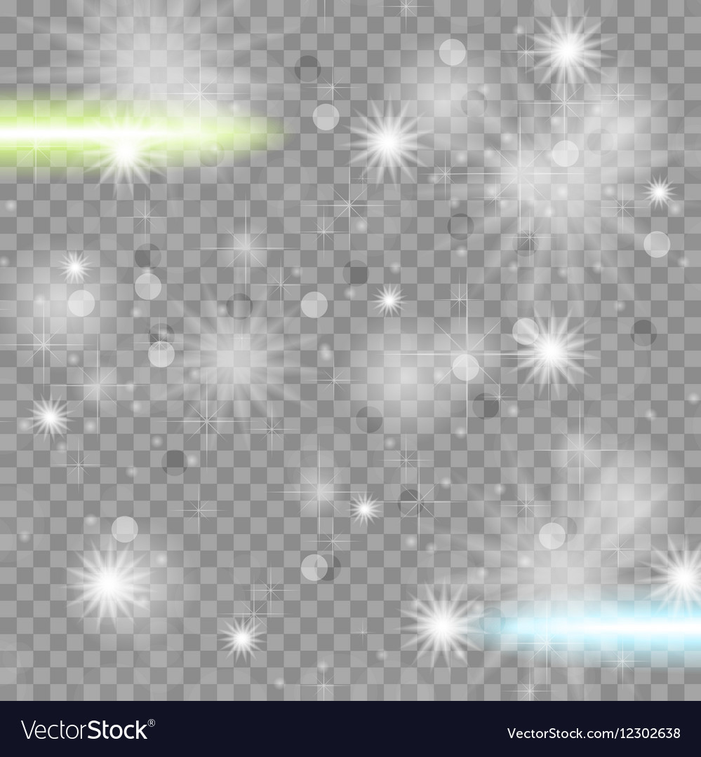 Shiny starry transparent sparkling effect vector image