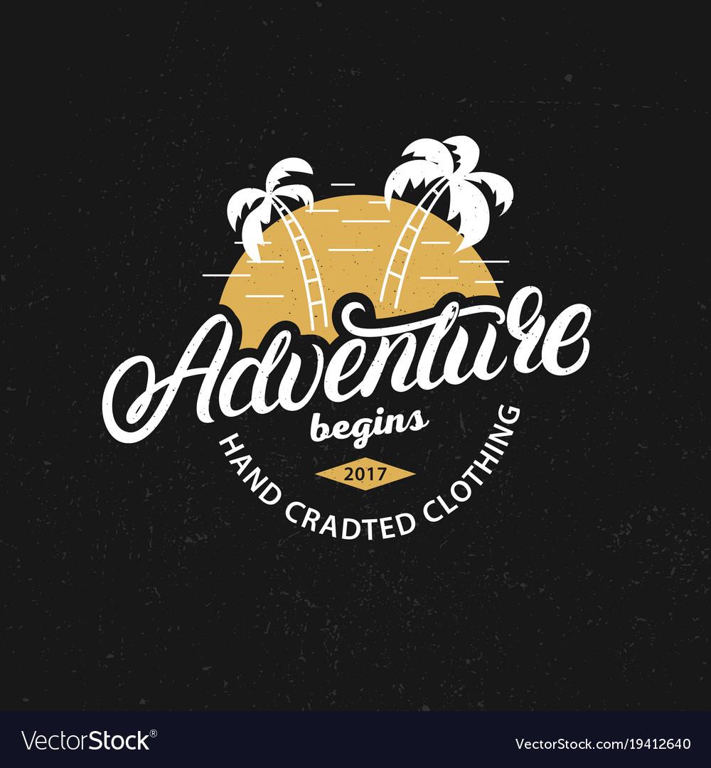Adventure hand written lettering c vector image