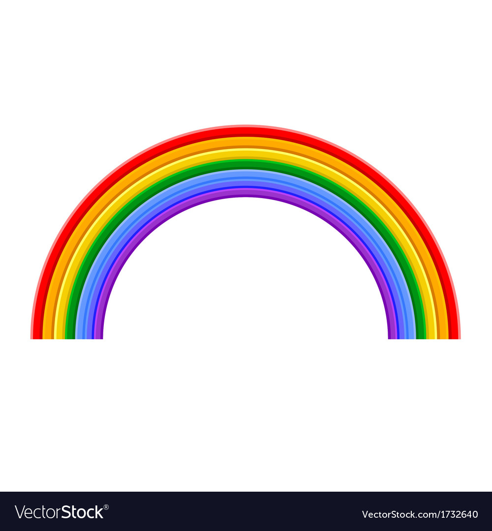 Colorful Rainbow vector image