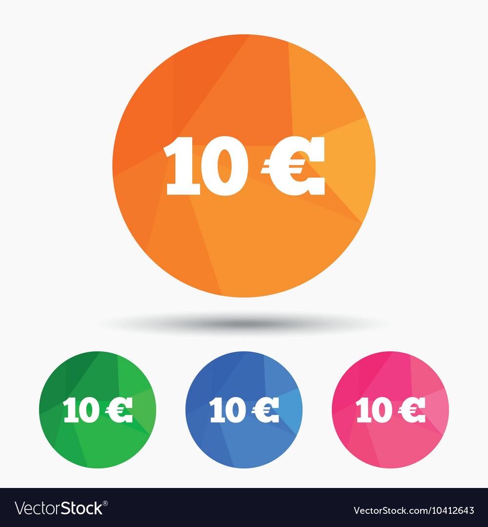10 euro sign icon eur currency symbol royalty free vector 10 euro sign icon eur currency symbol vector image buycottarizona Choice Image