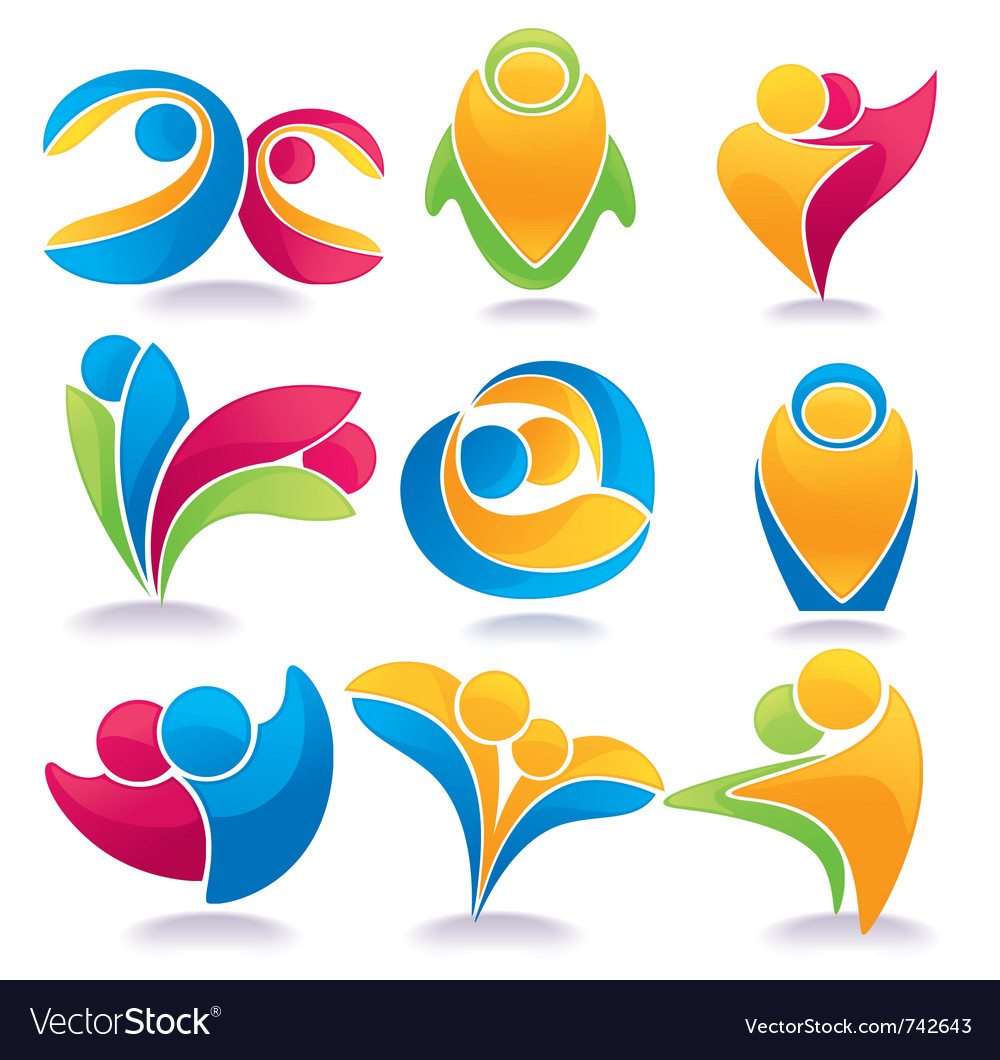 People family love vector image